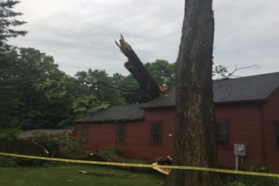 Recent Amherst MA major roof damage claim
