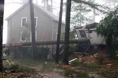 Recent Shelburne MA wind storm damage claim