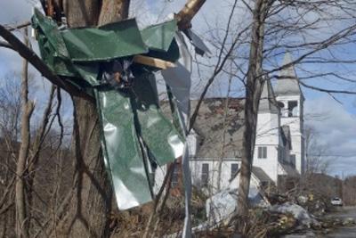 Recent Goshen MA tornado damage claim