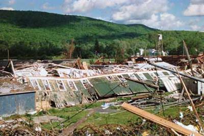 Recent Great Barrington MA tornado damage claim