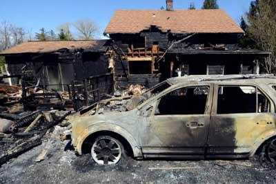 Recent Stockbridge MA fire damage claim