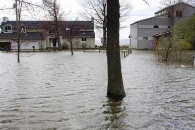Colchester VT flood damage insurance claim