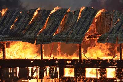 Shelburne VT fire damage insurance claim