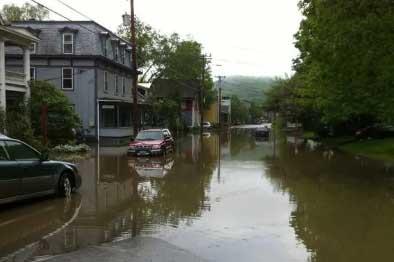 Shelburne VT flood damage insurance claim