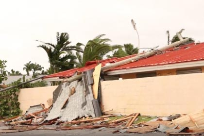 Palm Bay FL hurricane damage insurance claim