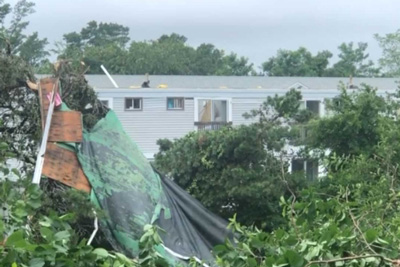 Recent Brewster MA tornado damage claim