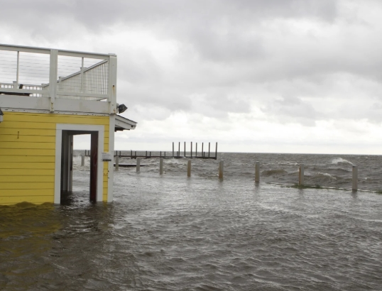 Cape Hatteras, NC  major flooding from hurricane dorian