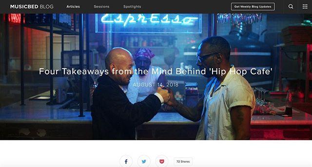 Big Hip Hop love to Musicbed @musicbed on Hip Hop Cafe director  @superrocketman link in bio. #Hiphopcafefilm #hiphop