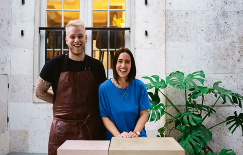 William Milsted, Head Chef, and Anastasia Dimitriadis, CEO.