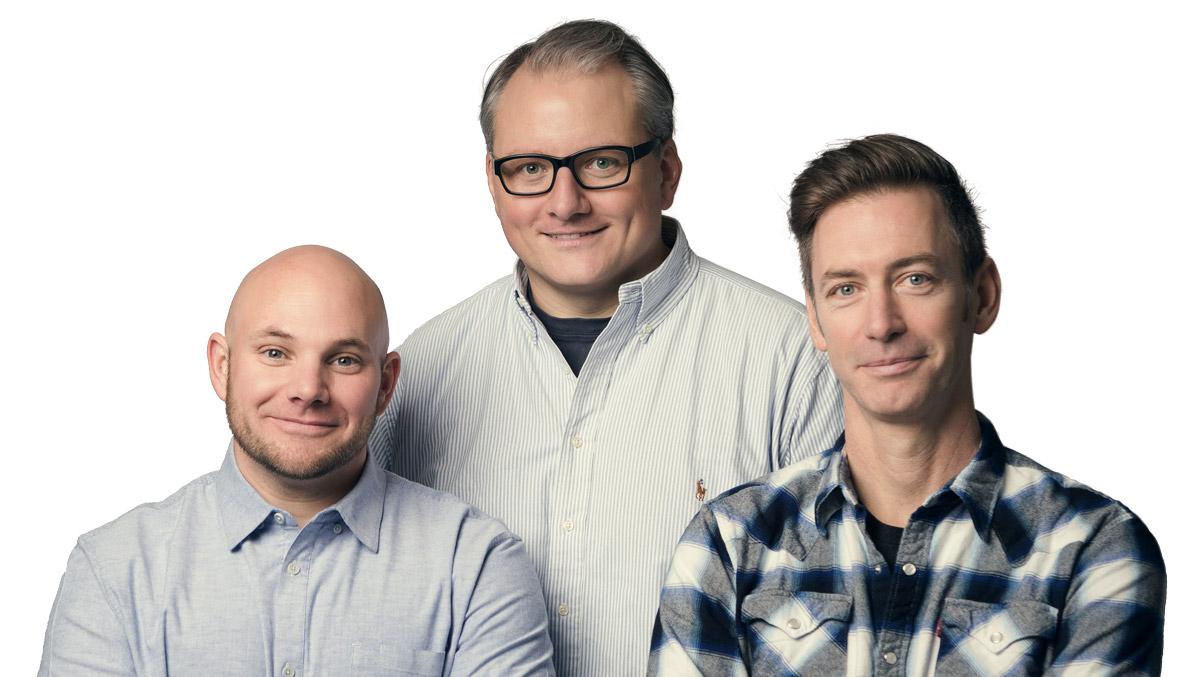 Nate Walkingshaw, Martin Eriksson, and Richard Banfield
