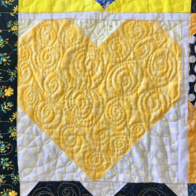 Spiral Quilted Heart Block