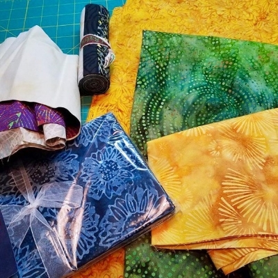Vicki's batiks are ready! You can find her on Instagram @vickilholloway