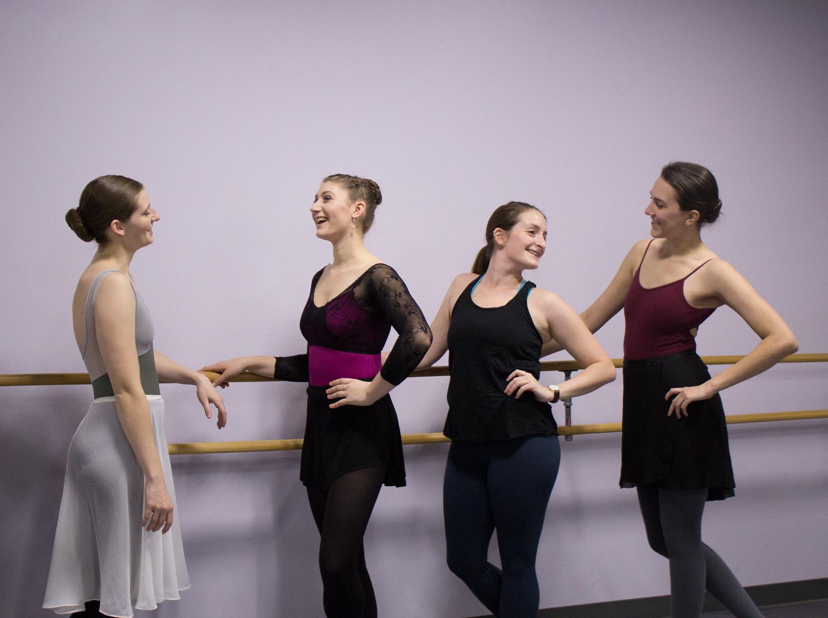 At joffrey academy, a ballet class for beginners