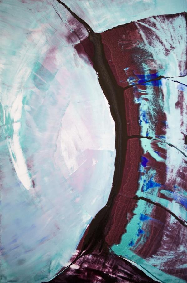 Aqua, Akryyli ja pigmentti kankaalle, 150 cm x 100 cm  Myynnissä / For sale