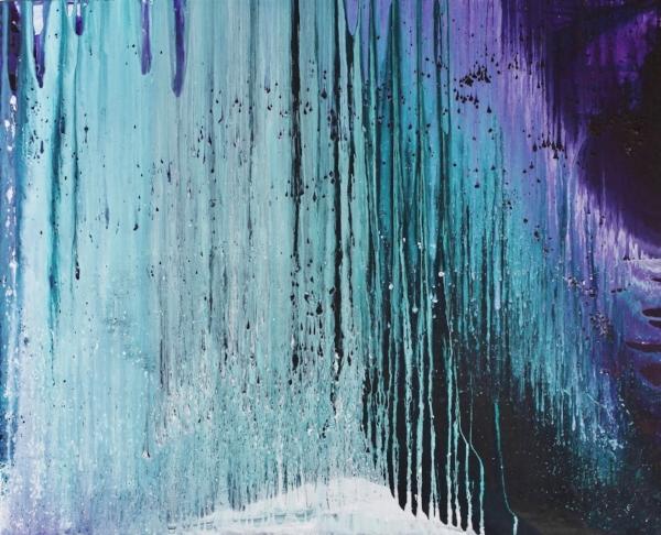 Jää, Akryyli kankaalle, 81 cm x 100 cm  Myynnissä / For sale