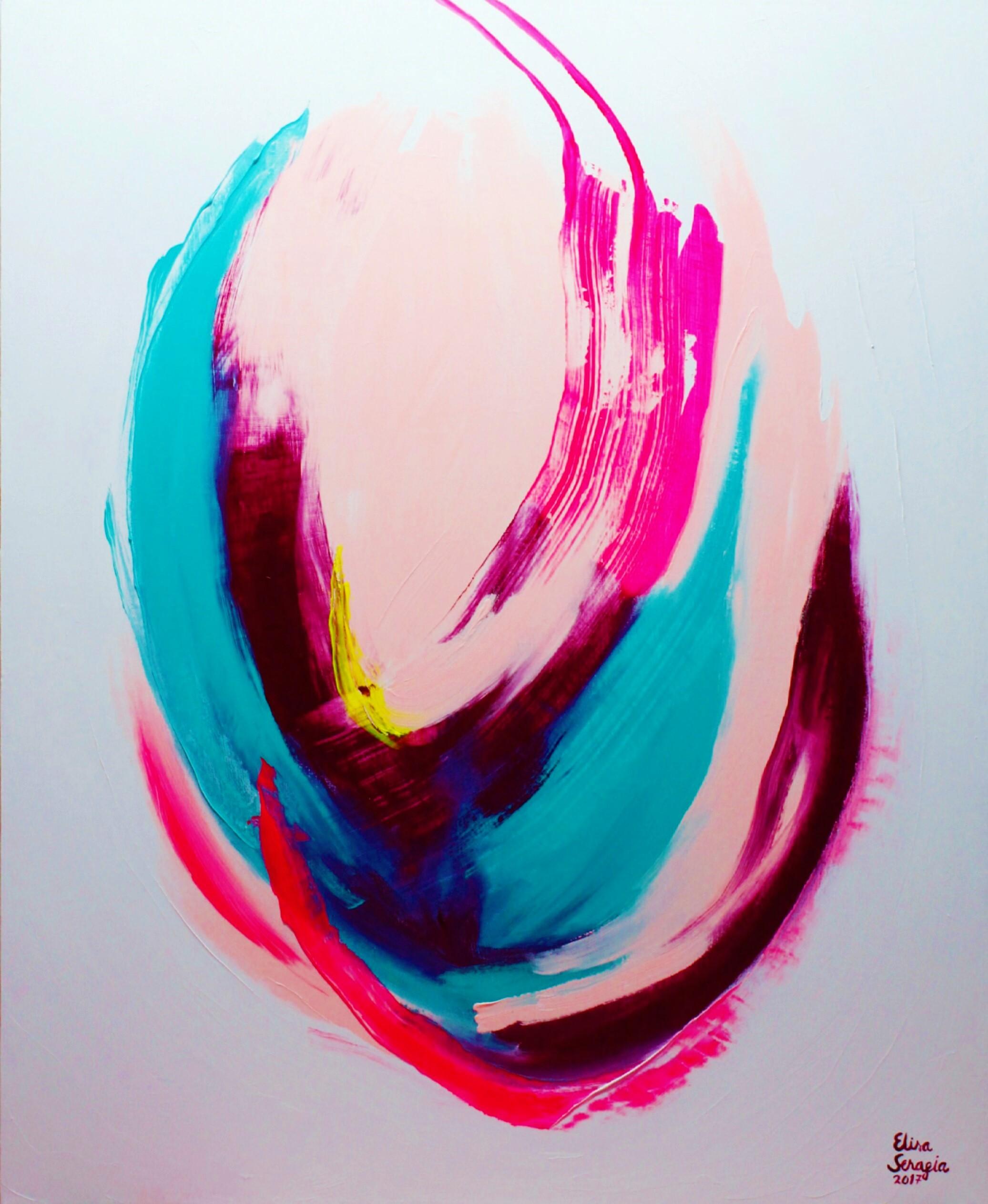 Alku, Akryyli kankaalle, 160 cm x 130 cm  Myyty / Sold