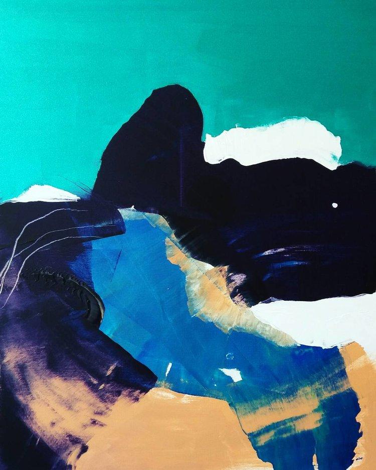 Laguuni, Akryyli kankaalle, 100 cm x 80 cm  Myyty / Sold