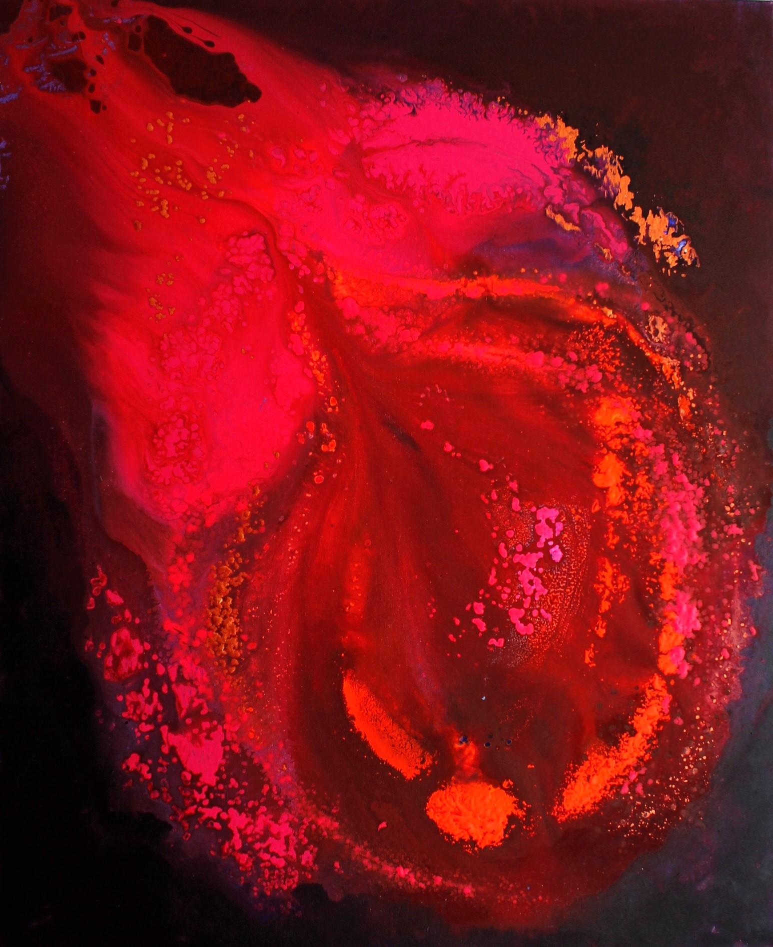 Hekuma, Akryyli kankaalle, 100 cm x 80 cm  Myyty / Sold