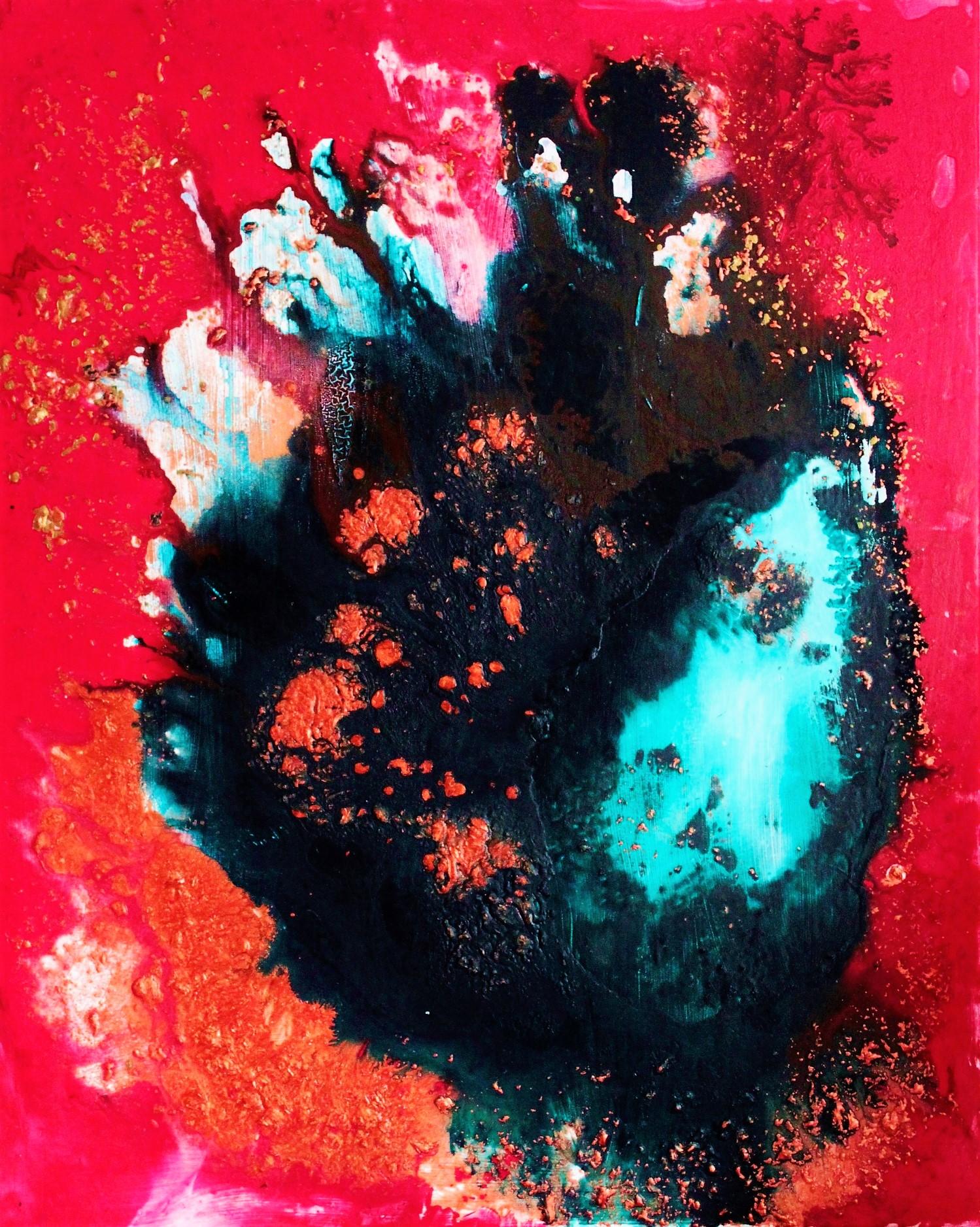 Pakahtua, Akryyli kankaalle, 100 cm x 80 cm  Myyty / Sold