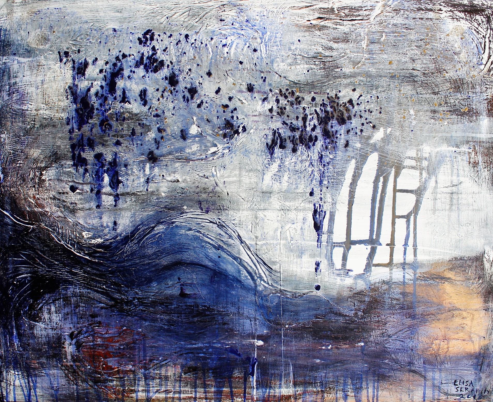 Hallan huurteessa kaiut, Akryyli kankaalle, 100 cm x 80 cm  Myyty/Sold
