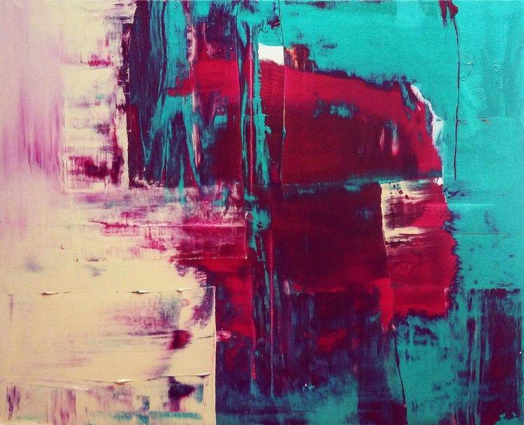 Kevätromanssi |, Akryyli kankaalle, 81 cm x 100 cm  Myyty / Sold