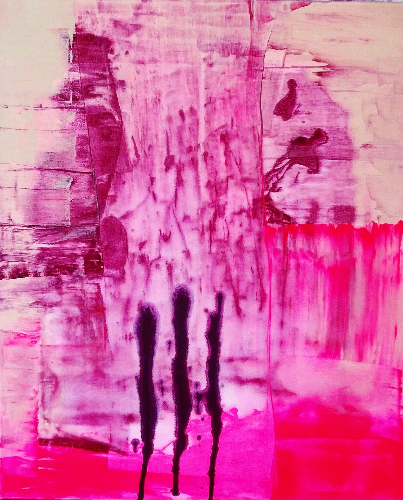 Kevätromanssi ||, Akryyli kankaalle, 100 cm x 80 cm  Myyty / Sold