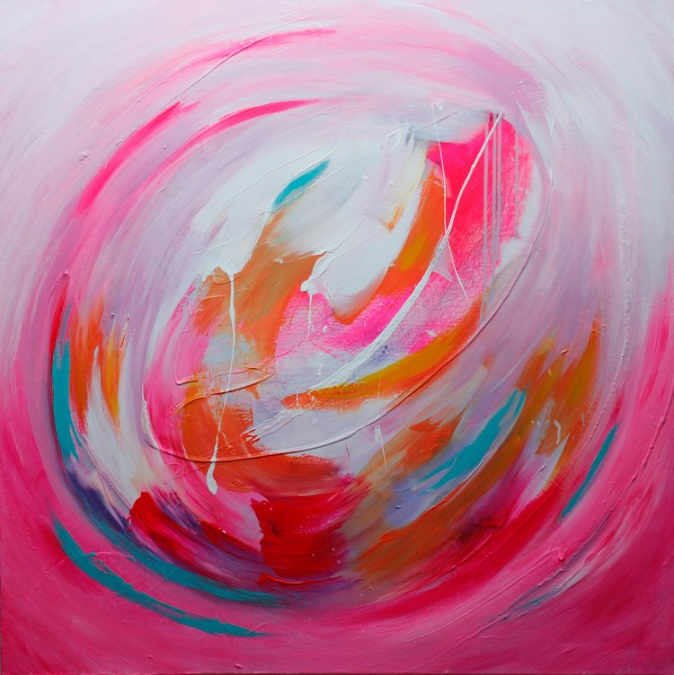 Romance, Akryyli kankaalle, 100 cm x 100 cm  Myyty/Sold