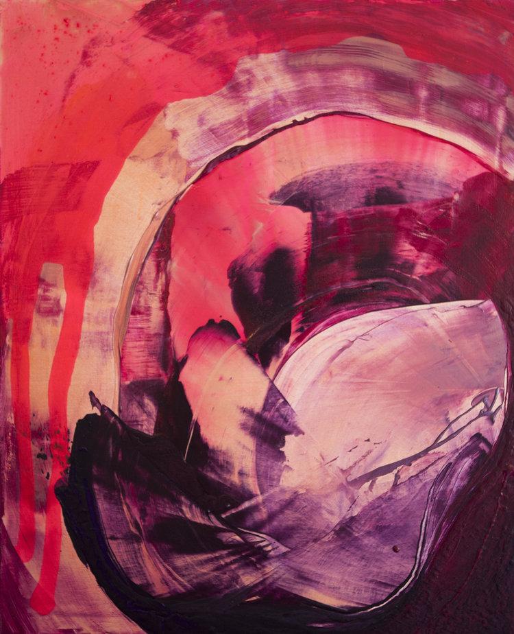 Simpukkavenus, Akryyli kankaalle, 100 cm x 80 cm  Myyty / Sold