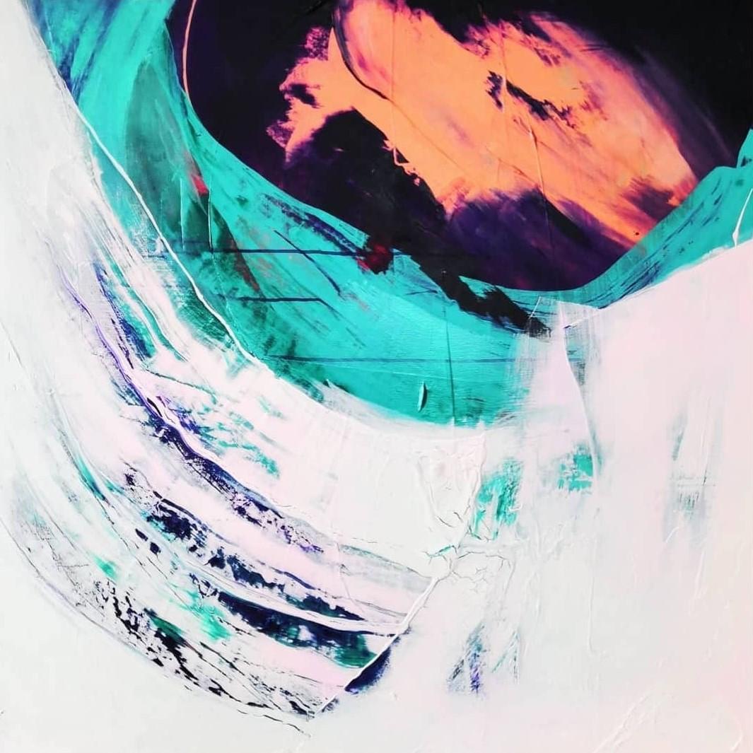 Antarktis, Akryyli kankaalle, 100 cm x 100 cm  Myyty / Sold