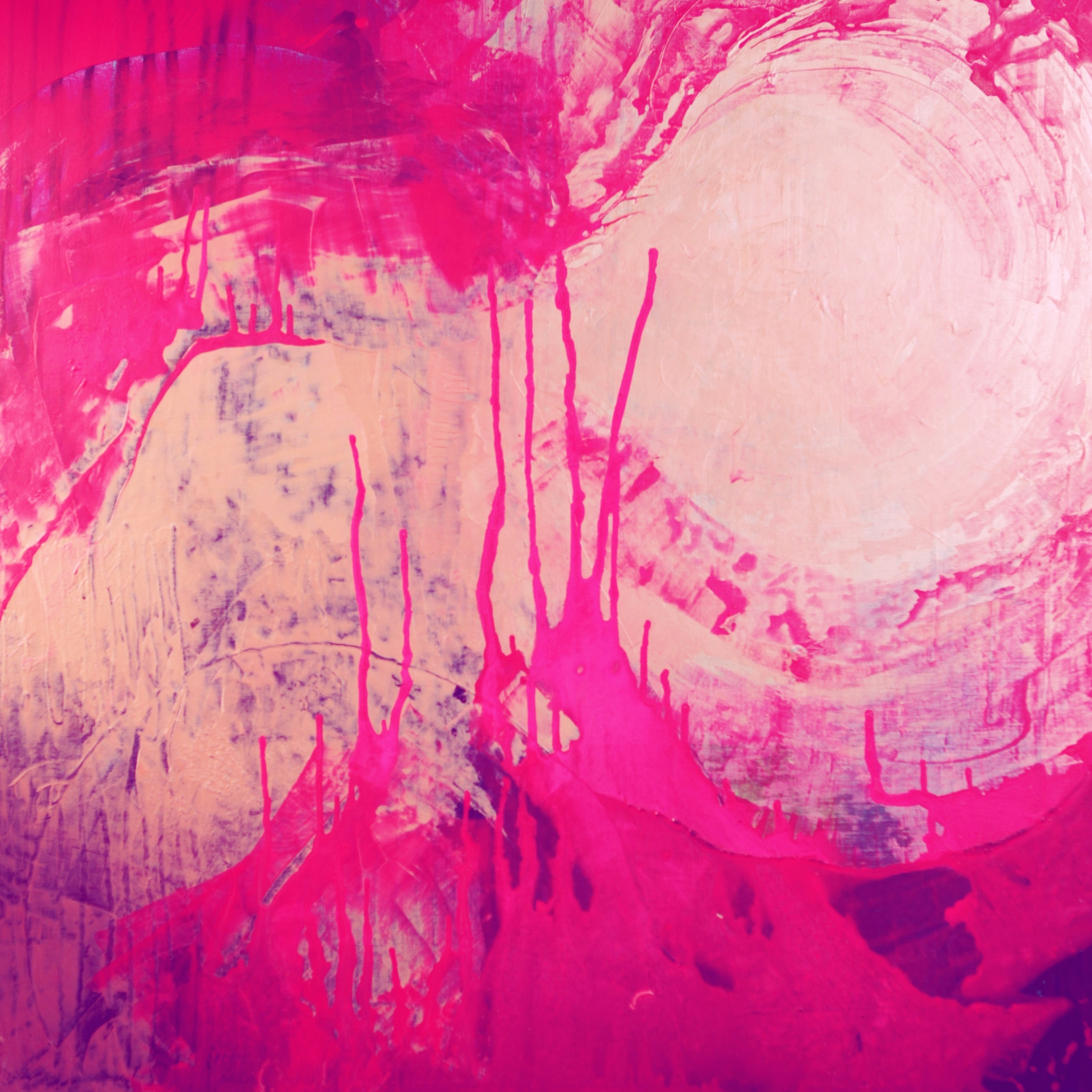 Magenta Magnete, Akryyli kankaalle, 130 cm x 130 cm  Myyty / Sold