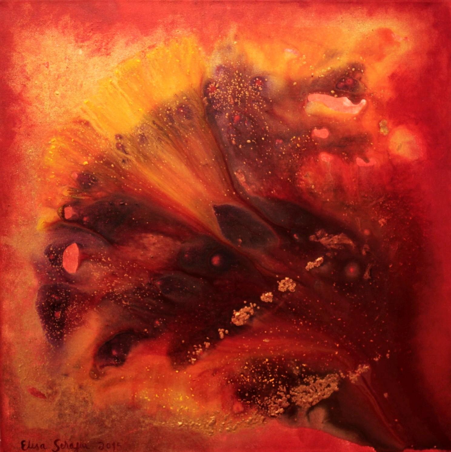 Lysithea, Akryyli kankaalle, 60 cm x 60 cm  Myyty / Sold