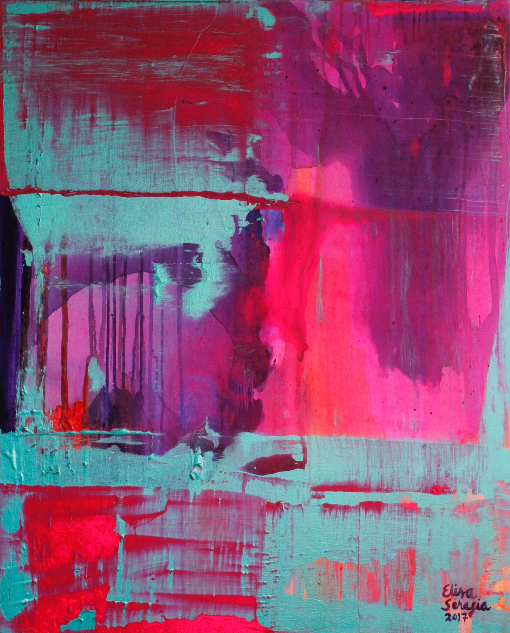 Surrealistinen keskiviikko, Akryyli kankaalle, 100 cm x 80 cm  Myyty / Sold