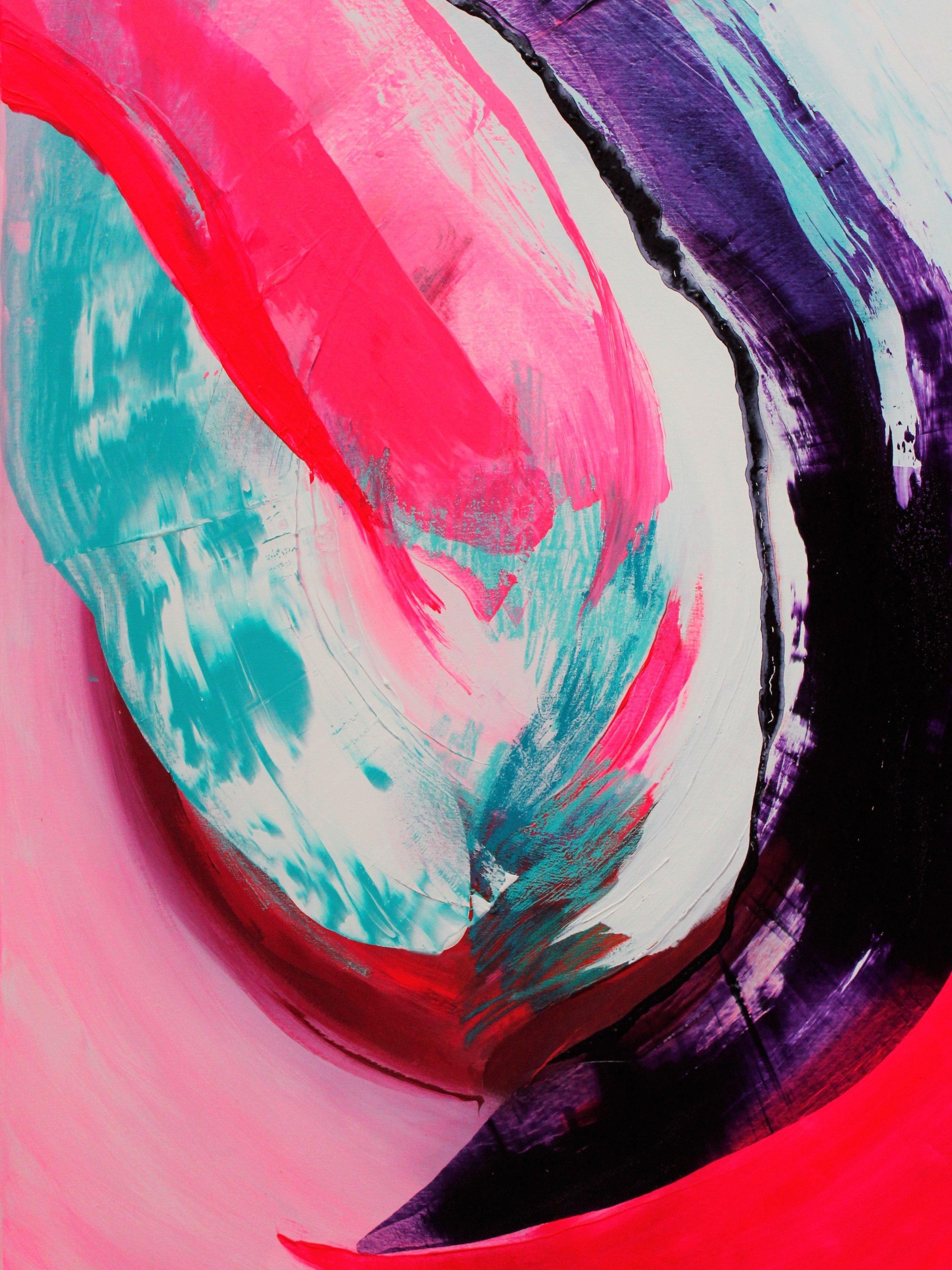 Sulka, Akryyli, pigmentti & pastelli kankaalle, 150 cm x 100 cm  Myynnissä / For sale