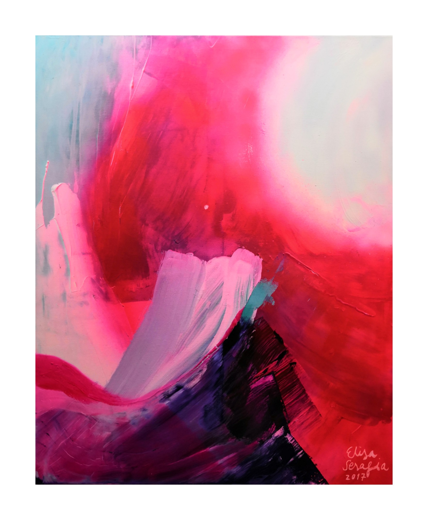 Magma |, Akryyli kankaalle, 100 cm x 80 cm  Myyty / Sold