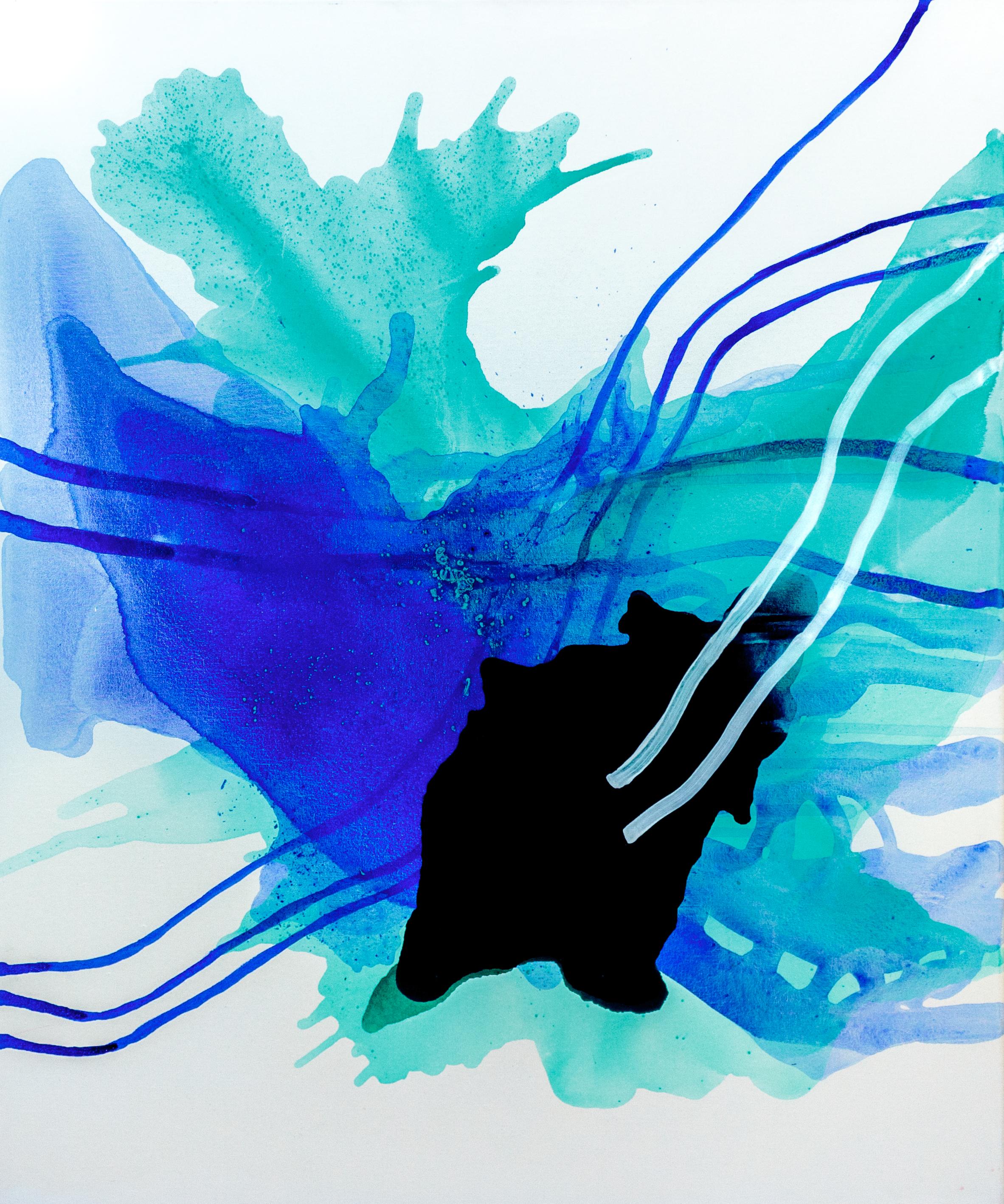 Aqua |, Akryyli kankaalle, 120 cm x 100 cm  Myynnissä / For sale