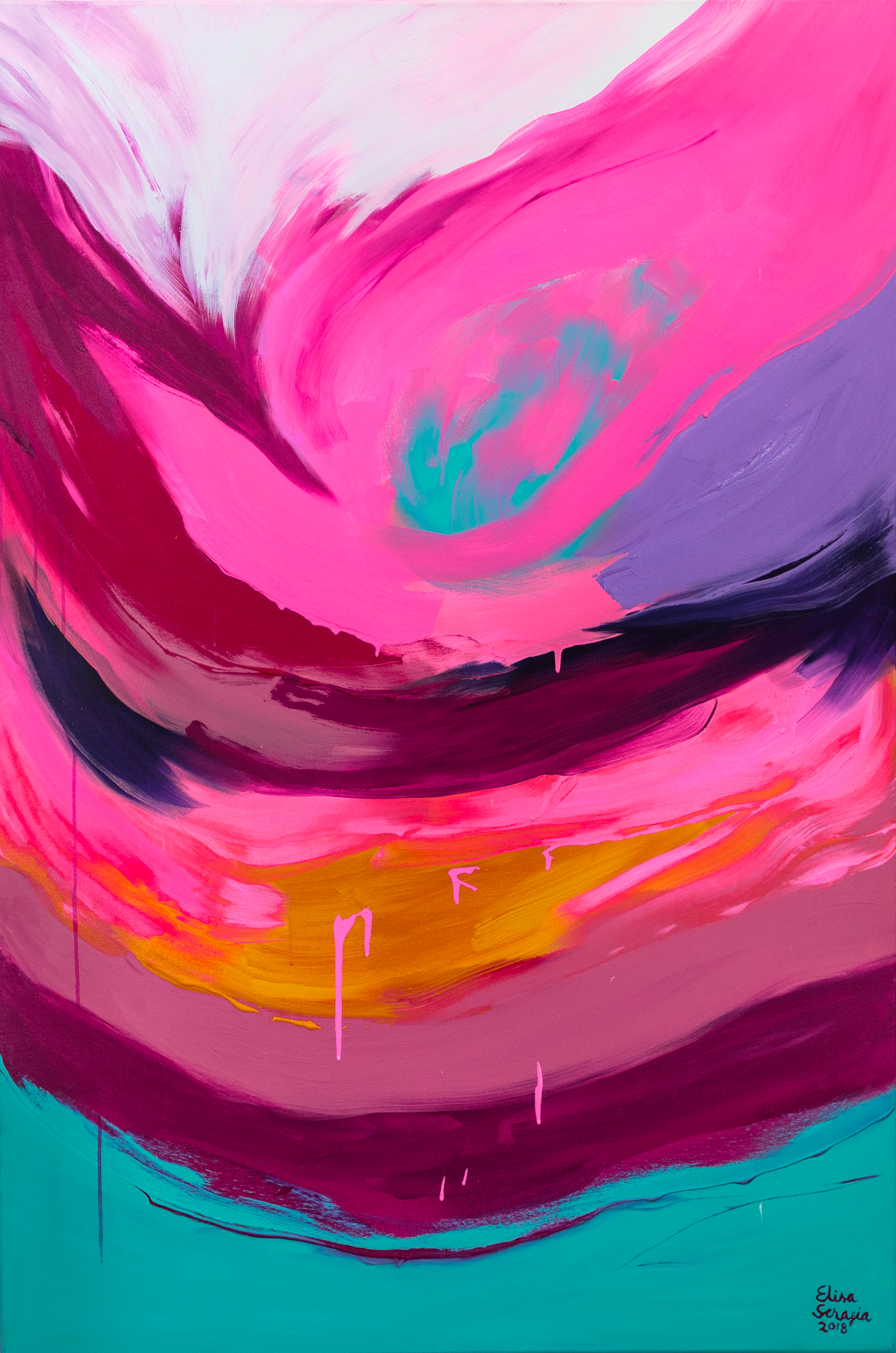 Aurora, Akryyli kankaalle, 150 cm x 100 cm  Myyty /Sold
