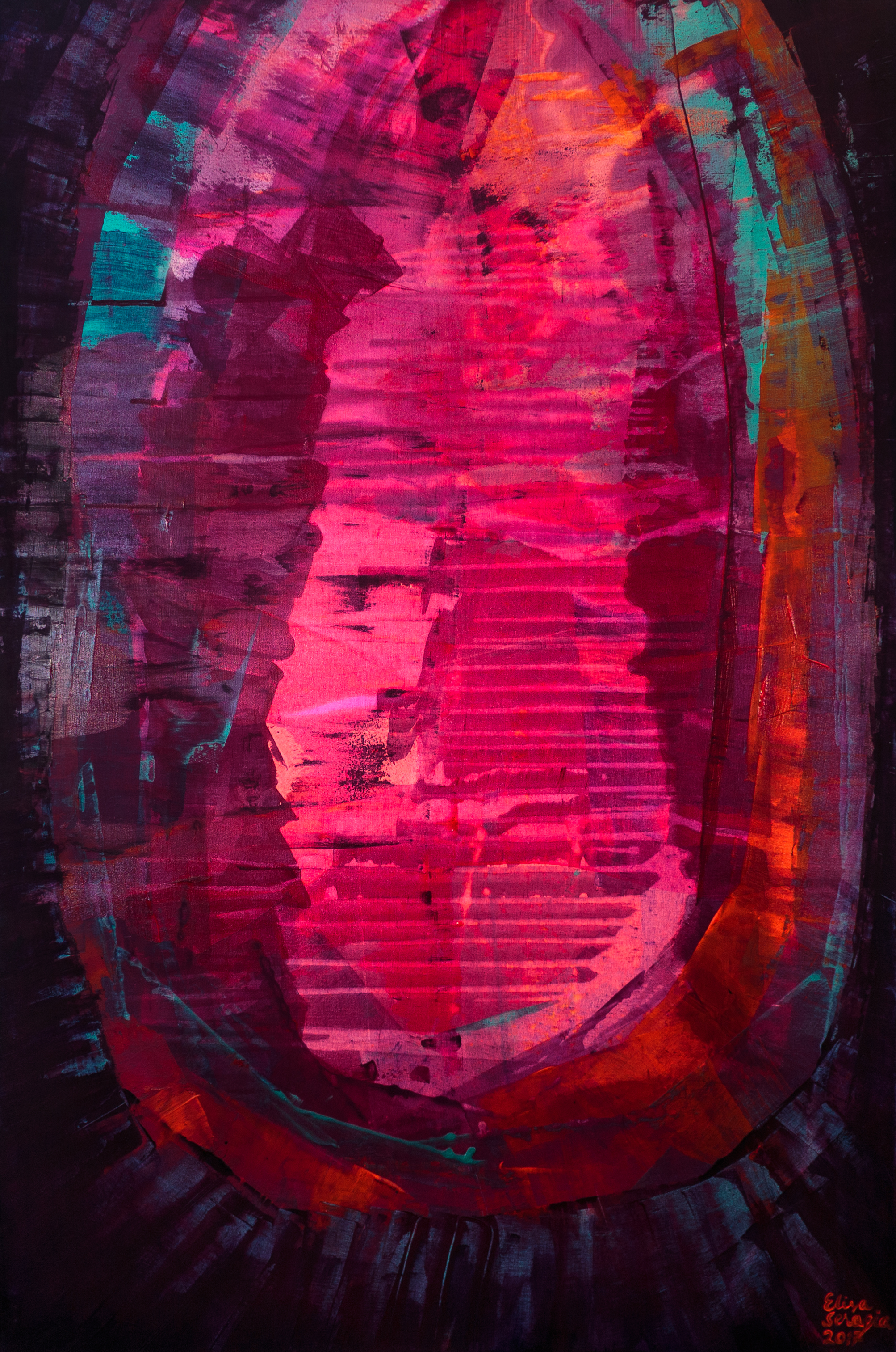 Amethyst, Akryyli kankaalle, 150 cm x 100 cm  Myynnissä / For sale