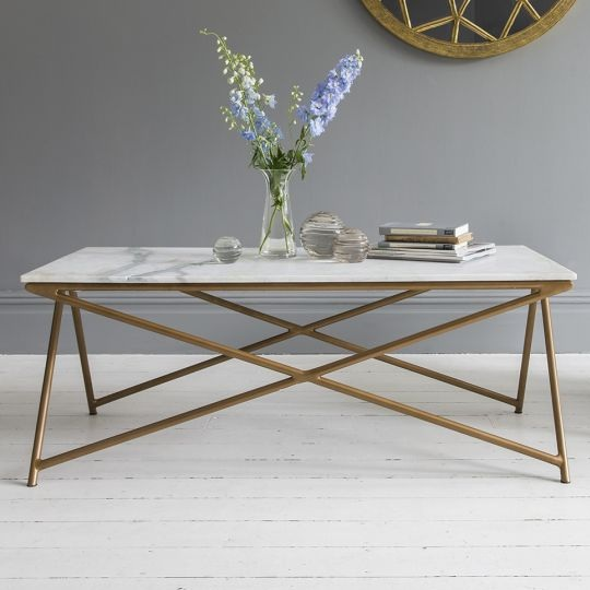 HOME   Stellar White Marble Coffee Table