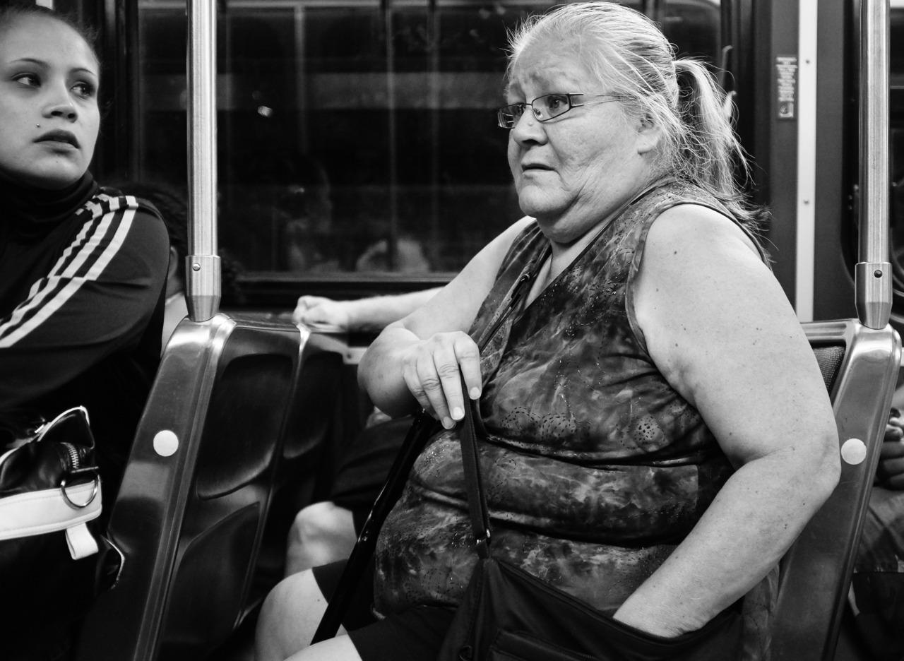 Night bus. Toronto.   Fuji X100