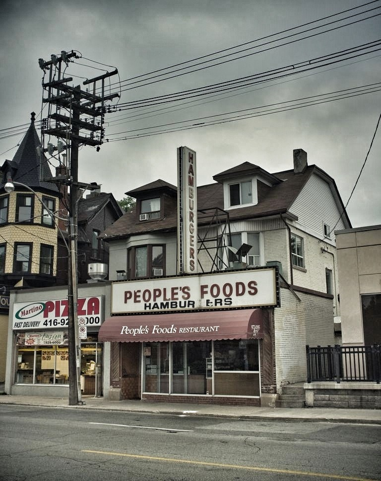 People's Foods, Toronto.   I love walking around a city and discovering places that feel like they are from a different era. That was the feeling I got when I left a friend's apartment and stumbled across People's Foods.
