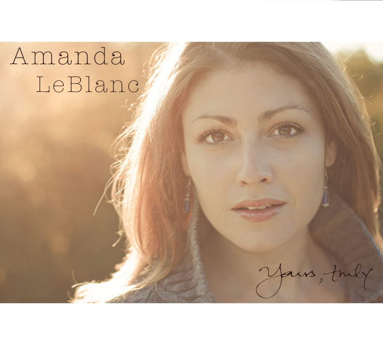 Last month, I had a photo-shoot with the super-talented Amanda LeBlanc for her upcoming album,  Yours Truly . We had a blast chasing the late afternoon sun in High Park and here is the resulting album cover. Be sure to check out her album when it's released December 5th!    www.amandaleblanc.ca
