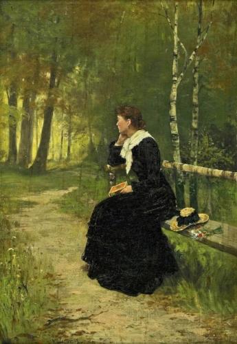 Walter Dendy Sadler, Girl on a Bench