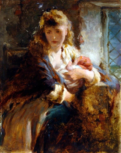 George Elgar Hicks, Mother and Baby