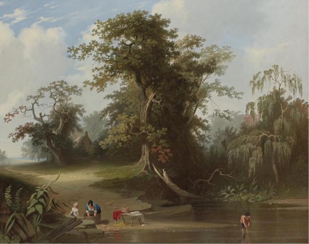 George Caleb Bingham, Landscape, Rural Scene