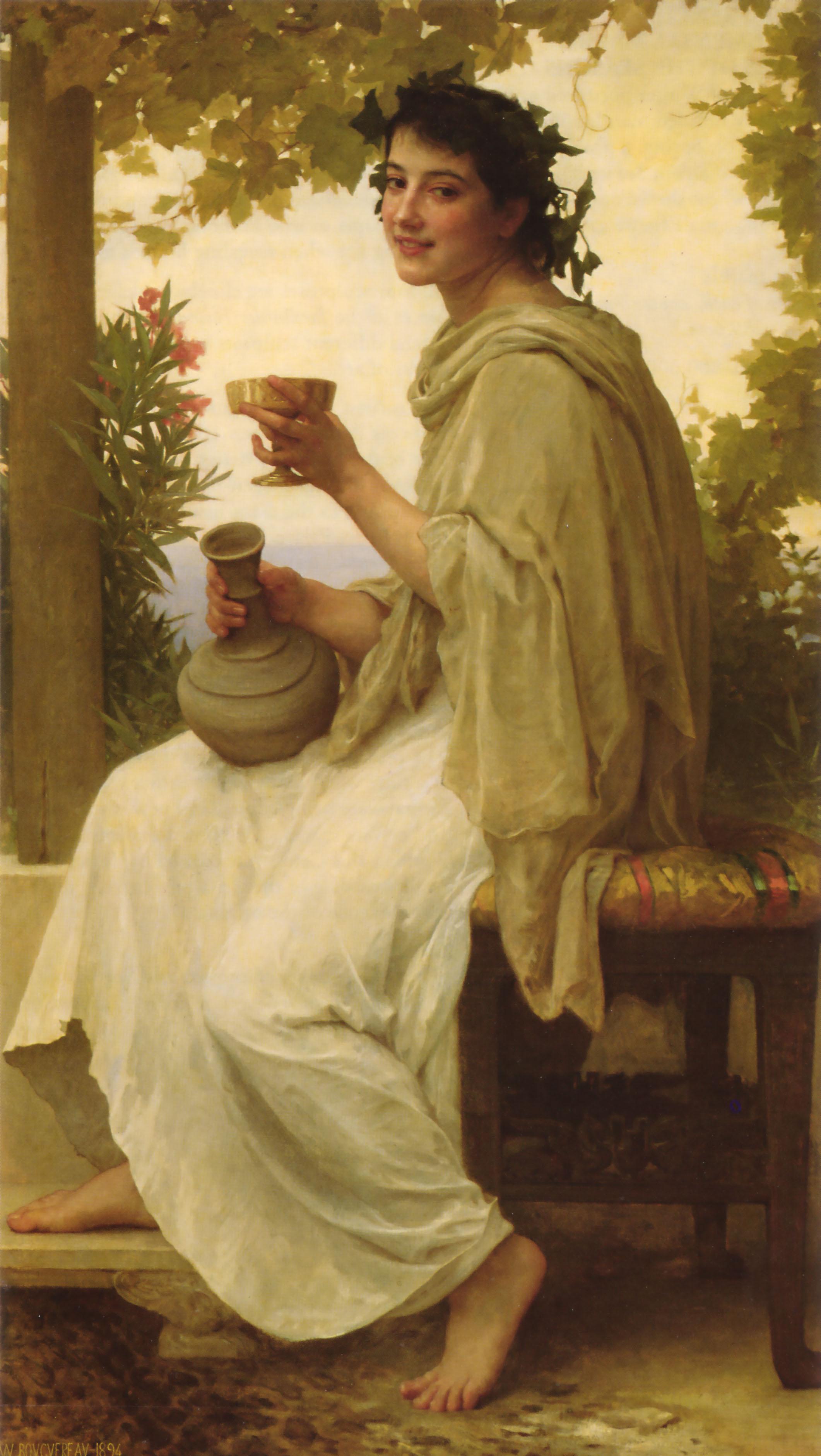 William-Adolphe Bouguereau, Bacchante  (see 67 Across)