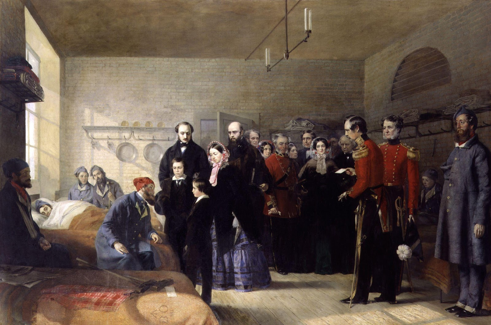 Jerry Barrett,Queen Victoria's First Visit to her Wounded Soldiers