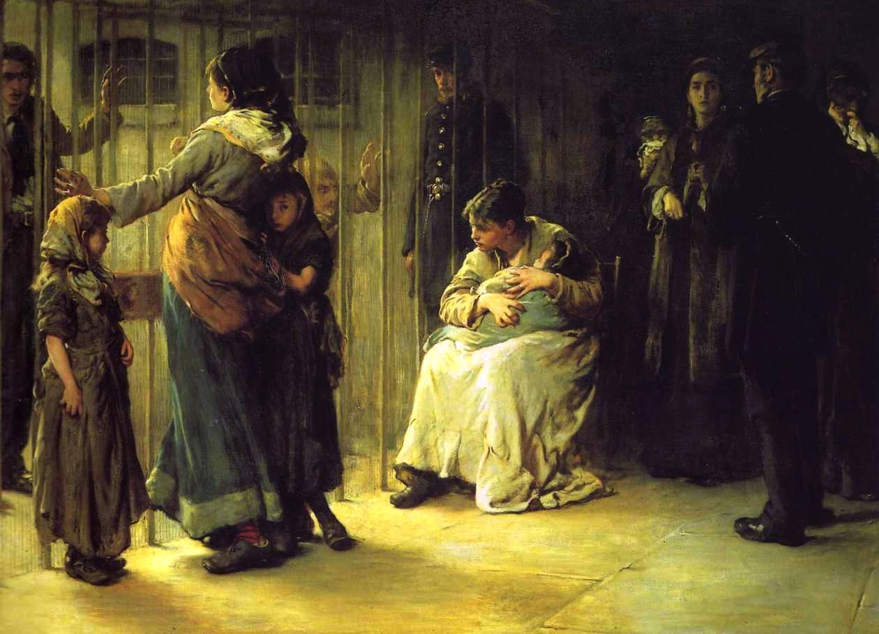 Frank Holl,Newgate:Committed for Trial