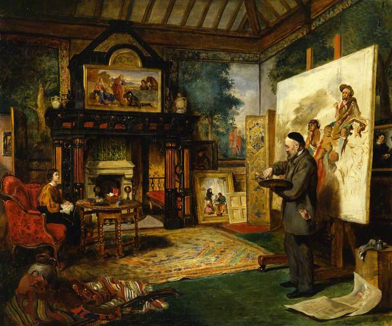 John Ballantyne - John Phillip in His Studio