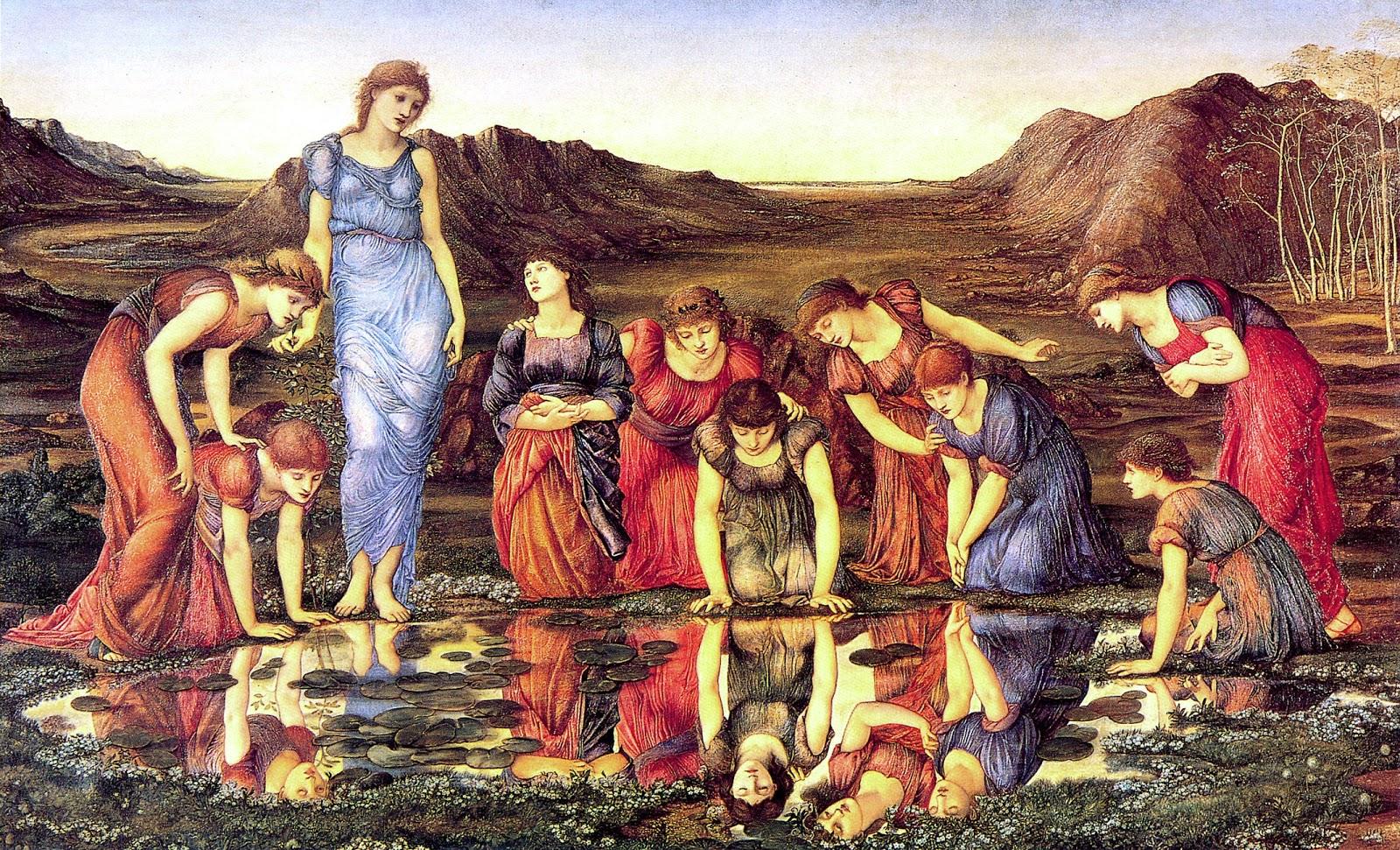 Edward Burne-Jones,The Mirror of Venus