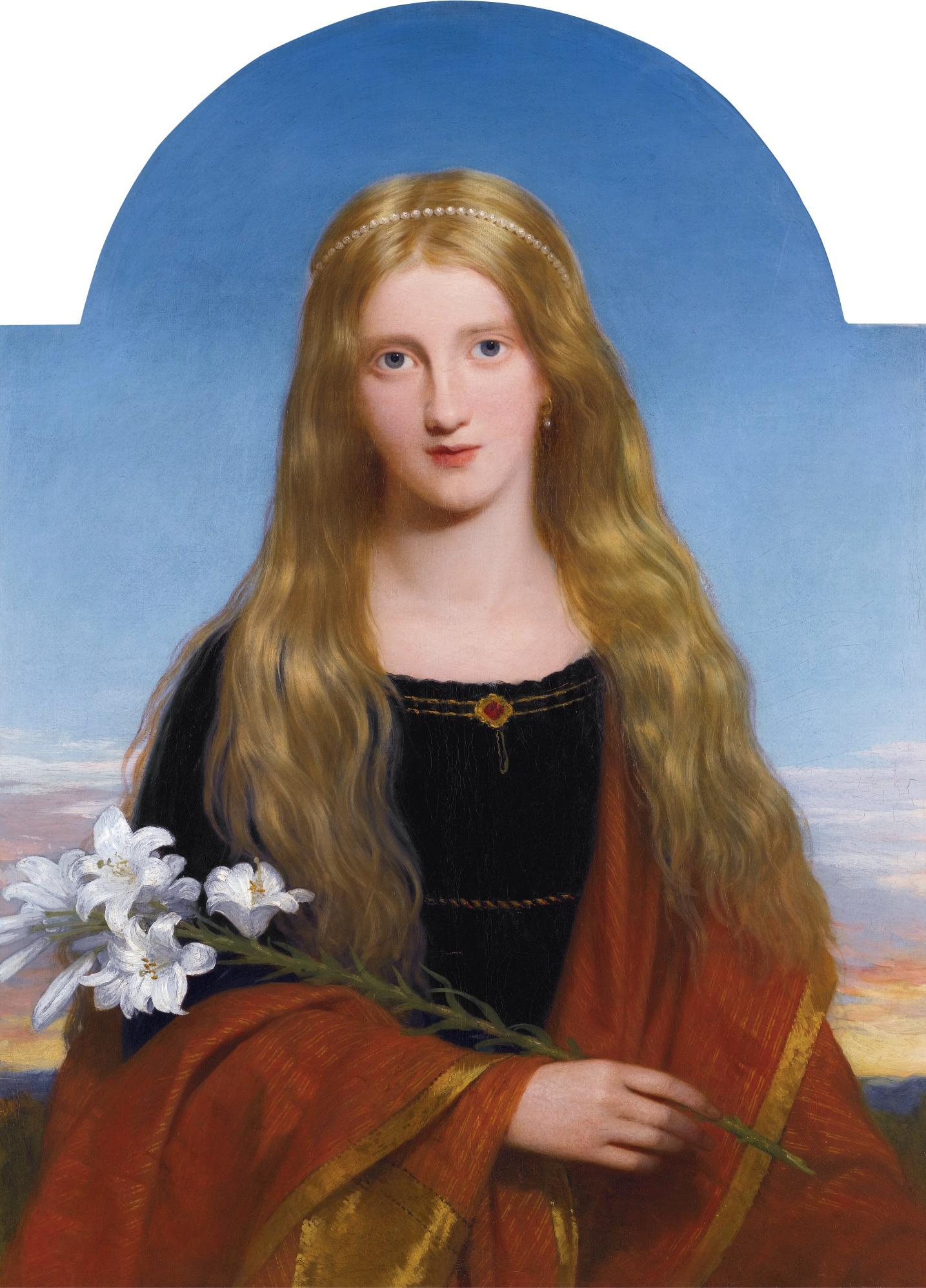 Charles Lock Eastlake, The Lily—Portrait of Miss Bury (Lady Charlotte Bury's daughter)